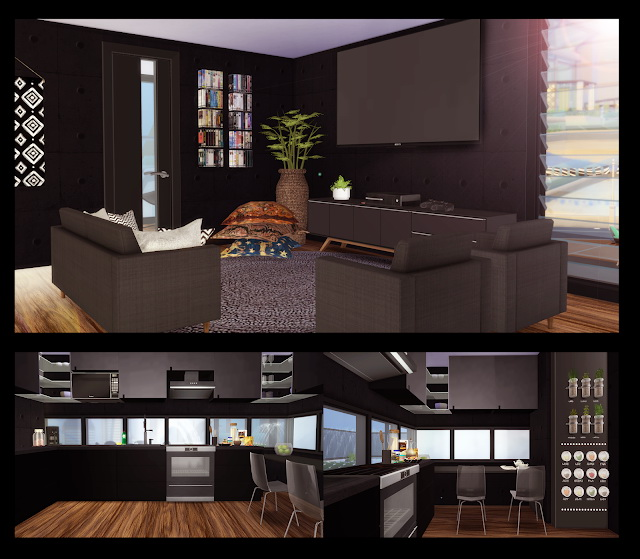 Sims 4 Black House at Lily Sims