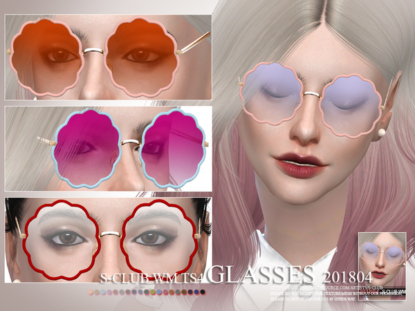 Glasses F 201804 by S Club WM at TSR image 4114 Sims 4 Updates