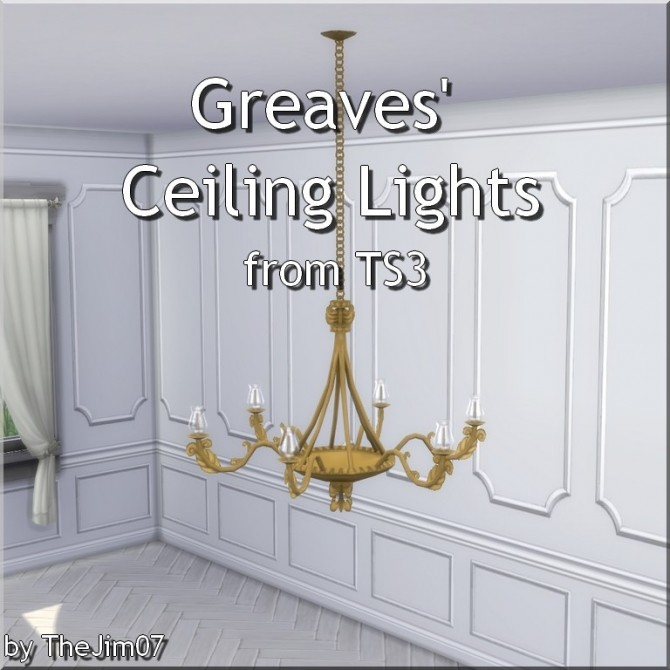Greaves Ceiling Lights from TS3 by TheJim07 at Mod The Sims image 421 670x670 Sims 4 Updates