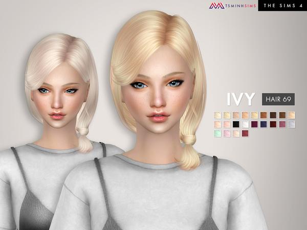 Ivy Hair 69 by TsminhSims at TSR image 4216 Sims 4 Updates