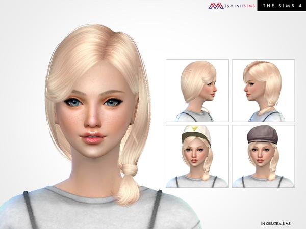 Ivy Hair 69 by TsminhSims at TSR image 4313 Sims 4 Updates