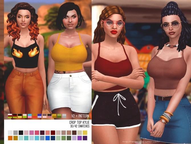 Crop Top Kylie at Helga Tisha image 438 670x503 Sims 4 Updates