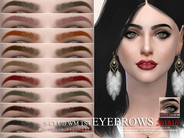 Eyebrows 201816 by S Club WM at TSR image 4413 Sims 4 Updates