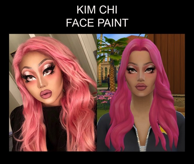 Kim Chi Face Paint for Males and Females T E by Simmiller at Mod The Sims image 445 670x565 Sims 4 Updates
