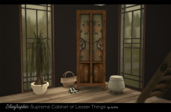 2T4 Zerographic Supreme Cabinet of Lesser Things by daer0n at Blooming Rosy image 446 670x440 Sims 4 Updates