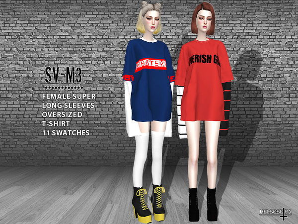 SVM3 Xtra Long Sleeves Oversized T-Shirt by Helsoseira at ...