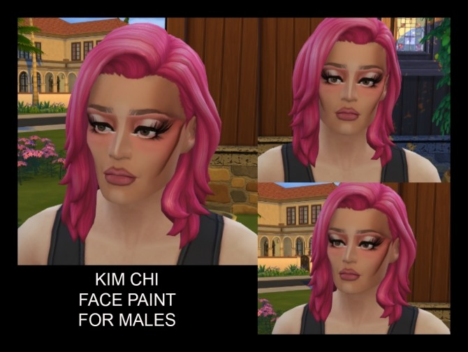 Kim Chi Face Paint for Males and Females T E by Simmiller at Mod The Sims image 465 670x504 Sims 4 Updates