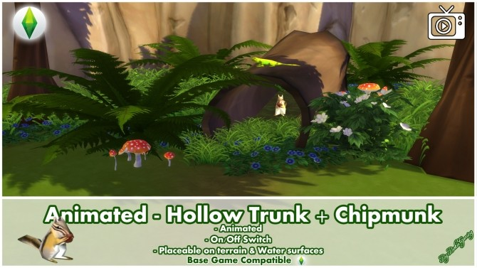 Animated Hollow Trunk + Chipmunk Effect by Bakie at Mod The Sims image 492 670x377 Sims 4 Updates