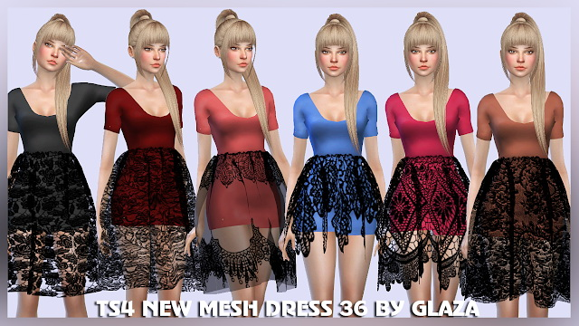 DRESS 36 at All by Glaza image 5110 Sims 4 Updates