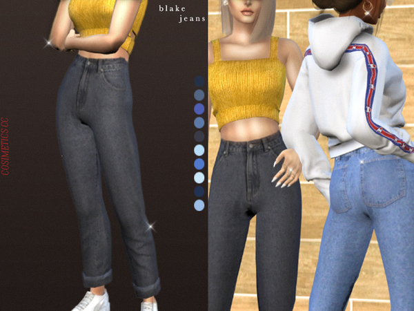 Blake jeans by cosimetics at TSR image 516 Sims 4 Updates