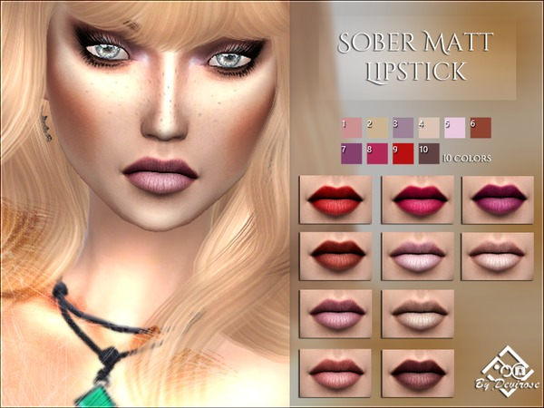 Sober Matt Lipstick by Devirose at TSR image 519 Sims 4 Updates