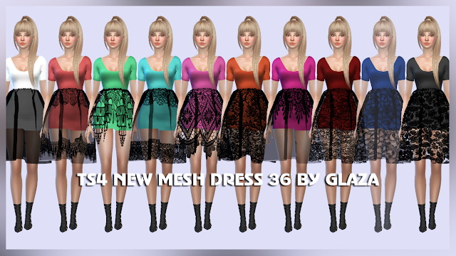 DRESS 36 at All by Glaza image 526 Sims 4 Updates