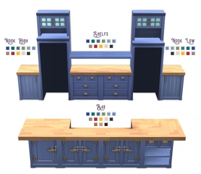 Sims 4 Revised Brohill kitchen at RENORASIMS