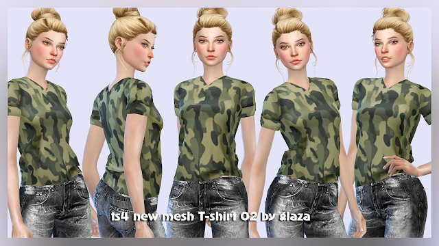 T shirt 02 at All by Glaza image 536 Sims 4 Updates