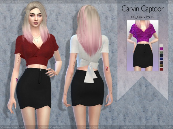 Sims 4 Chery PN 10 outfit by CarvinCaptoor at TSR
