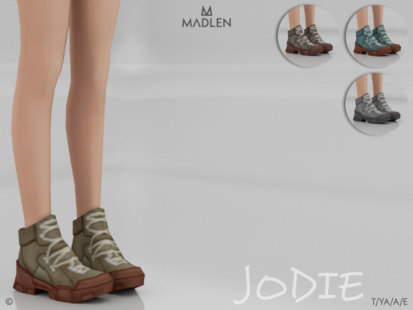 Sims 4 Madlen Jodie Boots by MJ95 at TSR