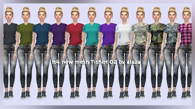 T shirt 02 at All by Glaza image 546 Sims 4 Updates