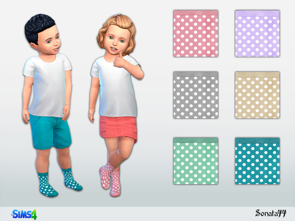 S77 toddler 31 socks by Sonata77 at TSR image 547 Sims 4 Updates