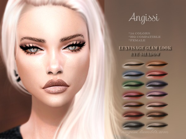 Glam Look Eye Shadow by ANGISSI at TSR image 5510 Sims 4 Updates