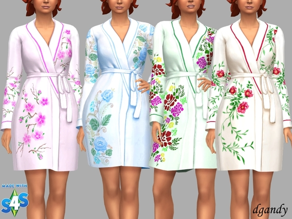Silk Robe Gail by dgandy at TSR image 5513 Sims 4 Updates