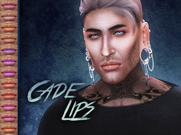 Sims 4 Cade Lipstick by KatVerseCC at TSR