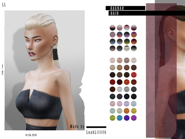 Ragnar Hair by LeahLillith at TSR image 5610 Sims 4 Updates