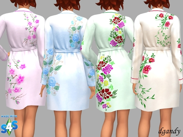 Silk Robe Gail by dgandy at TSR image 5614 Sims 4 Updates