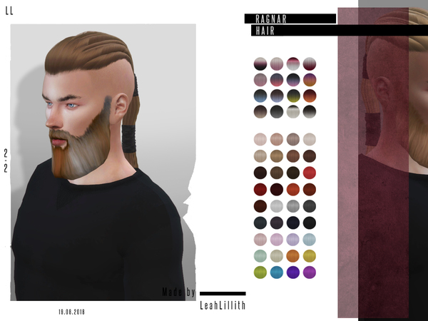 Ragnar Hair by LeahLillith at TSR image 5710 Sims 4 Updates