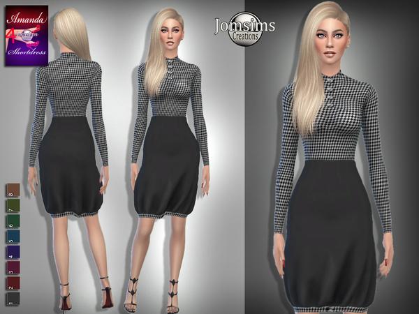 Sims 4 Amanda short dress 4 by jomsims at TSR