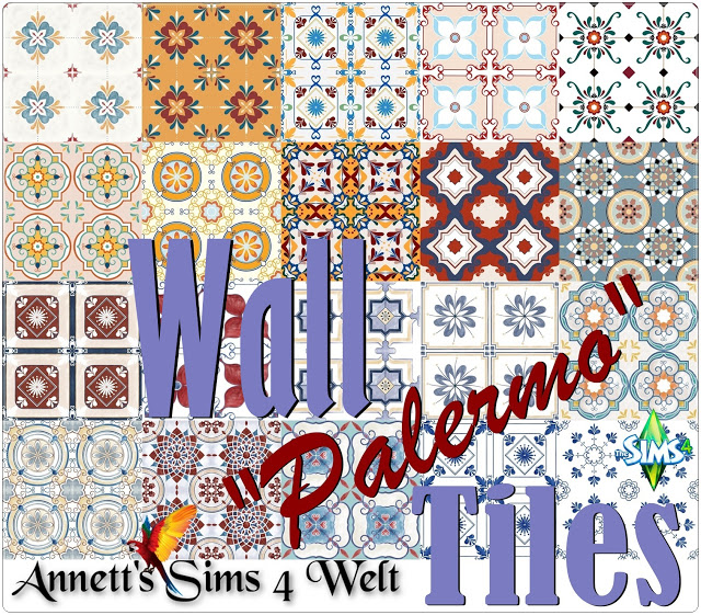 Palermo Wall Tiles at Annett's Sims 4 Welt image 604 Sims 4 Updates