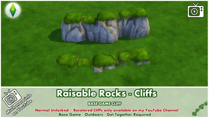 Sims 4 Raisable Rocks Cliffs by Bakie at Mod The Sims