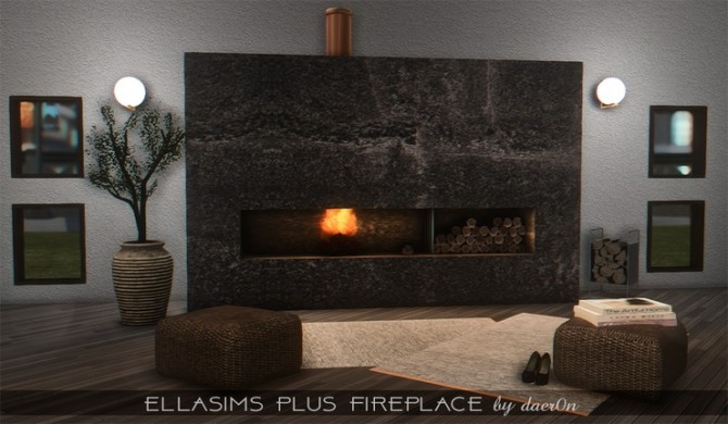 2T4 Ellasims Plus Fireplace by daer0n at Blooming Rosy image 617 670x390 Sims 4 Updates