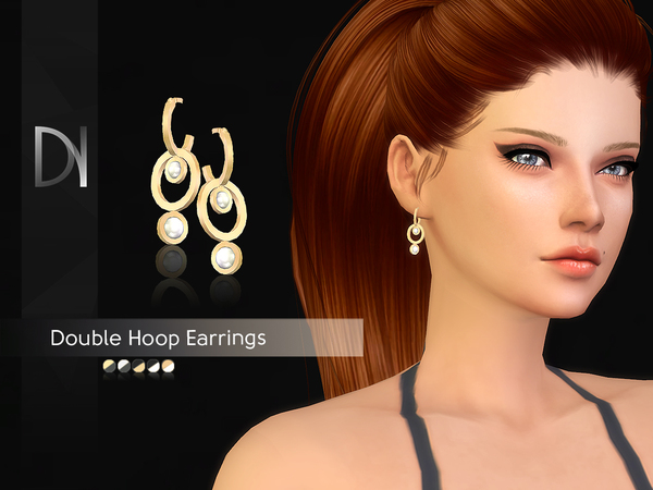 Double Hoop Earrings by DarkNighTt at TSR image 618 Sims 4 Updates