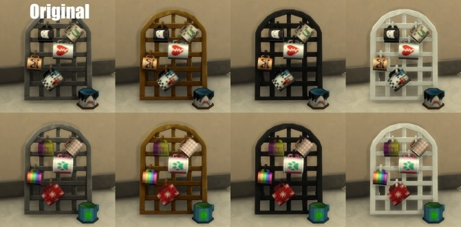 Concept Coffee Mug Rack Colors by harlequin eyes at Mod The Sims image 6216 670x331 Sims 4 Updates