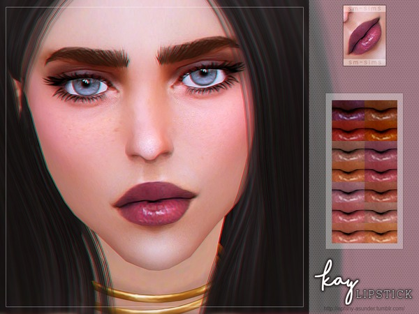Kay Lip Colour by Screaming Mustard at TSR image 623 Sims 4 Updates