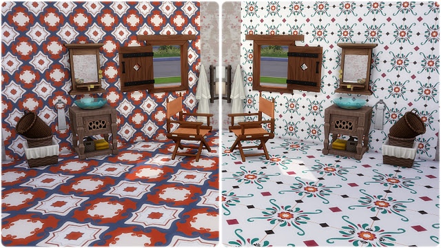 Palermo Wall Tiles at Annett's Sims 4 Welt image 625 Sims 4 Updates