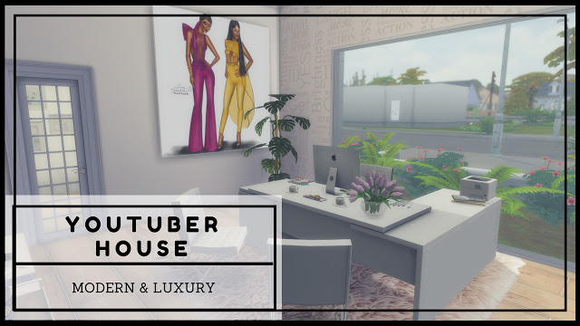 Sims 4 Modern and Luxury Youtuber House at Dinha Gamer