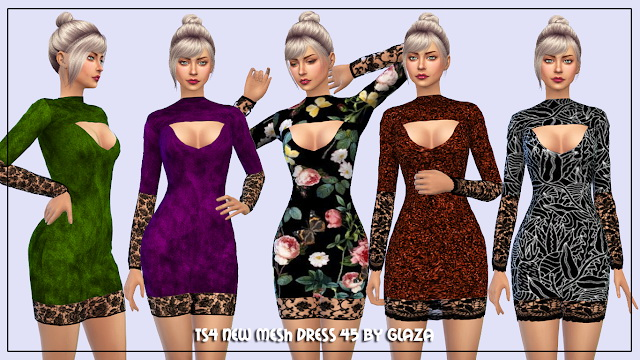 Sims 4 Dress 45 at All by Glaza