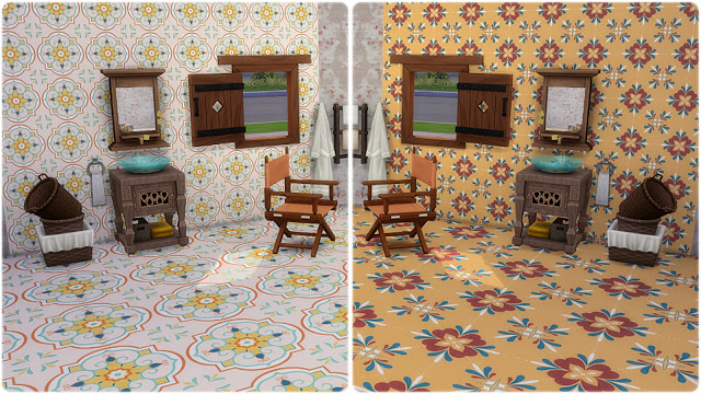 Palermo Wall Tiles at Annett's Sims 4 Welt image 635 Sims 4 Updates