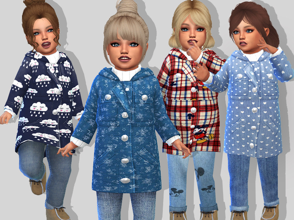 Toddler Fall Coat Set by Pinkzombiecupcakes at TSR image 6413 Sims 4 Updates