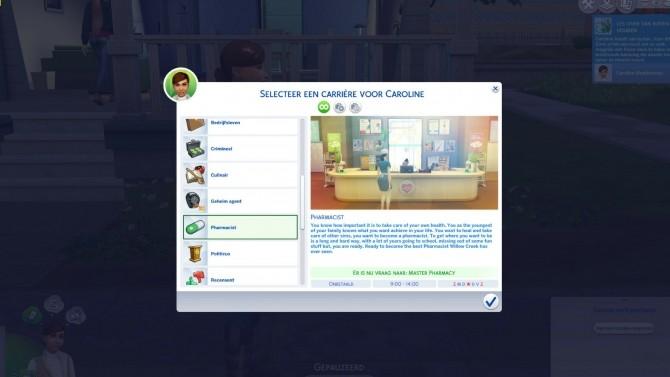 Sims 4 Pharmacist Career by xTheLittleCreator at Mod The Sims