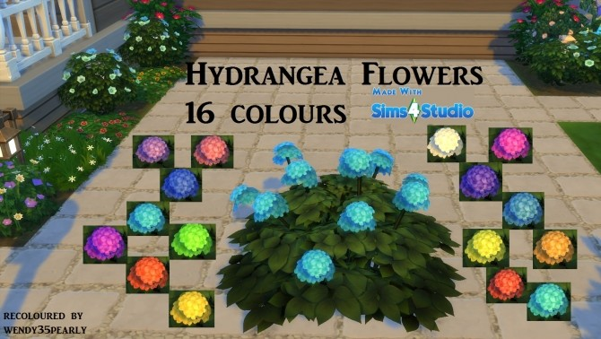 Hydrangea Flowers 16 Colours by wendy35pearly at Mod The Sims image 6611 670x378 Sims 4 Updates