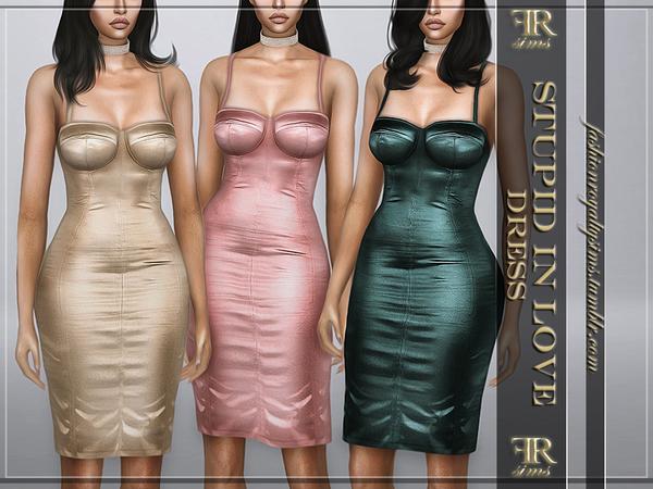 Sims 4 Stupid In Love Dress by FashionRoyaltySims at TSR