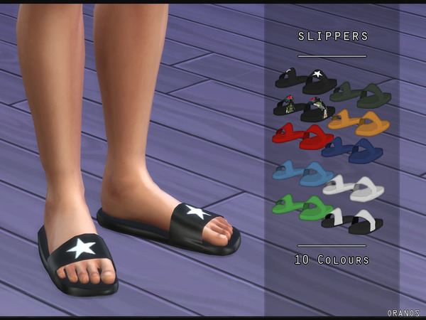 Sims 4 Slippers Male by OranosTR at TSR