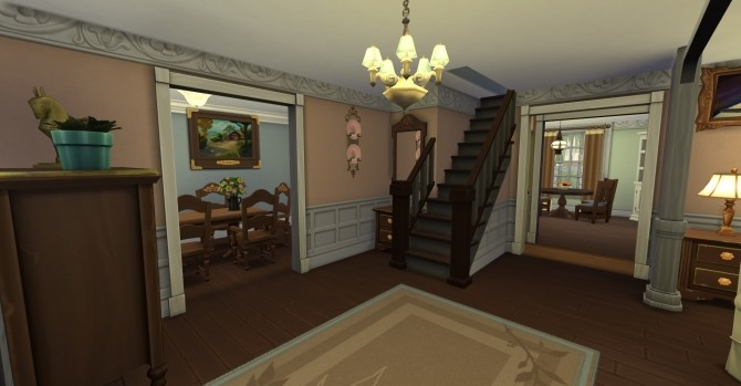 Sims 4 4352 Wisteria Lane house No CC by LianZiemas at Mod The Sims