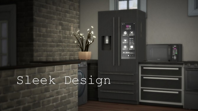 Sims 4 H&B Portal 2.0 Expensive Refrigerator by littledica at Mod The Sims