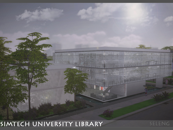 Sim tech Uni Library by Seleng at TSR image 680 Sims 4 Updates