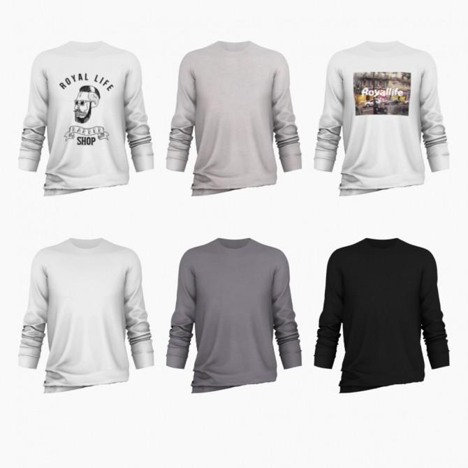 Sims 4 Long Sleeve T Shirt Remake at Bear Sims