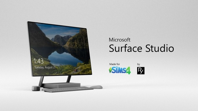 Surface Studio with Accessories by RyotMan at Mod The Sims image 7012 670x377 Sims 4 Updates