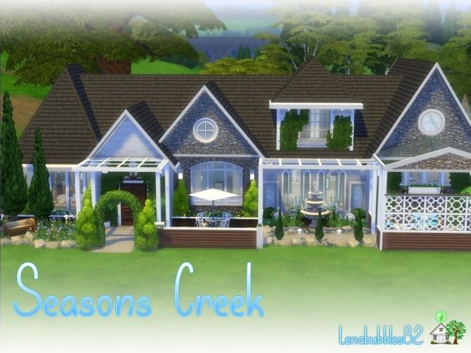 Sims 4 Seasons Creek House No CC by Lenabubbles82 at Mod The Sims